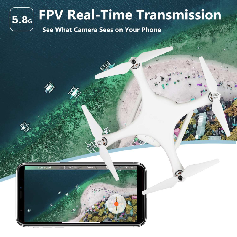 Drone Stable Hovering-4K UHD Wi-Fi Camera-Follow me Mode-GPS Auto Return