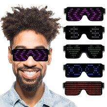 Новые 11 режимов быстрой вспышки светодиодные вечерние очки USB зарядка светящиеся очки рождественское освещение концертов игрушки дропшиппинг