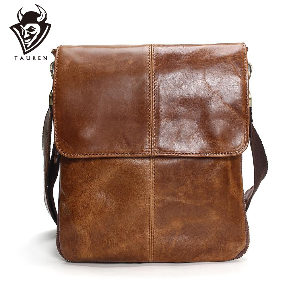 Tauren Genuine Leather Shoulder Bags Mens Bag Brand Casual Business High Quality New Travel Crossbody