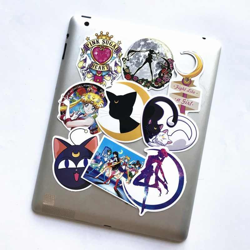 9 個クラシックアニメかわいいセーラームーンステッカーガール子供のための携帯電話のラップトップ荷物ギターケーススケートボード自転車ステッカー