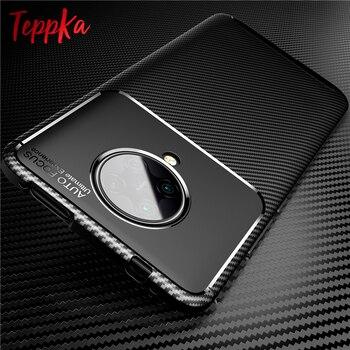 Para Xiaomi POCO X3 NFC funda de silicona suave de fibra de carbono TPU a prueba de golpes para pocofone X3 NFC F2 Pro Coques