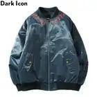Dark Icon Buchstaben Stickerei Bomber Jacke Männer Winter Baumwolle Gepolsterte männer Mäntel Oberbekleidung Mäntel für Männer