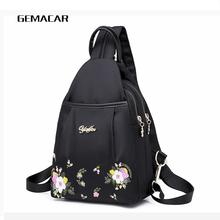 Fashion Women Backpack Embroidered Flowers Oxford Cloth Female Backpacks For Girls Teenagers Schoolbag Small Ladies Bag