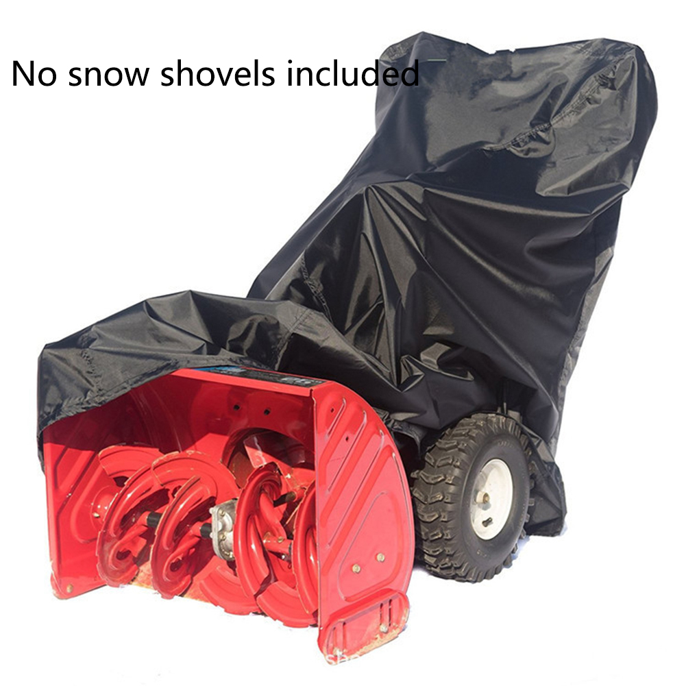 Windproof Snow Blowers Covers Waterproof Snow Thrower Cover Shield UV Resistant Snowblower Cover Shade For Garden Lawn ATV