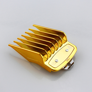 Image 5 - Universal gold electroplating electric hair clipper limit comb Guide Attachment 8 piece hair clipper caliper accessories