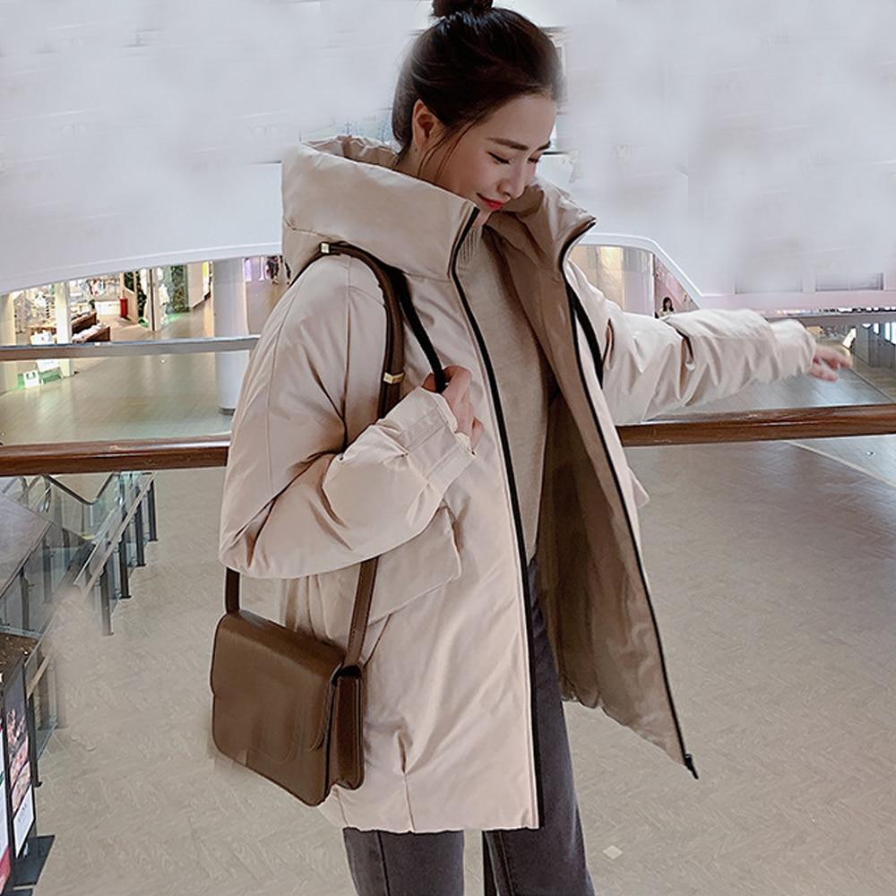 Парки Mujer 2019, модная новинка 2019, пуховик, Женская куртка с капюшоном, зимняя женская куртка, большие размеры, 806