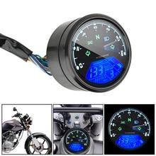 دراجة نارية لوحة عداد السرعة LED متعددة الوظائف مؤشر رقمي مقياس سرعة الدوران الوقود متر العالمي للرؤية الليلية الطلب عداد المسافات