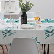 Nordic Style Tablecloth Rectangular Waterproof Table Cloth Decorative Leaf Printed Table Cover For Dinner Table цена 2017