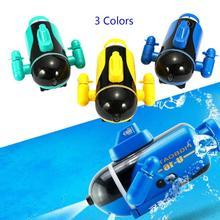 Мини радио гоночный подводная лодка на радиоуправлении пульт дистанционного управления лодка игрушка подарок с светодиодный свет RC игрушка подарок цвета водонепроницаемый модель подарок игрушка