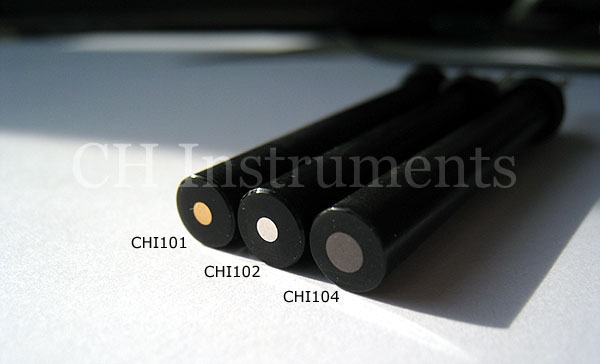 CHI104 3mm Glass Carbon Disk Electrode Glassy Carbon Electrode