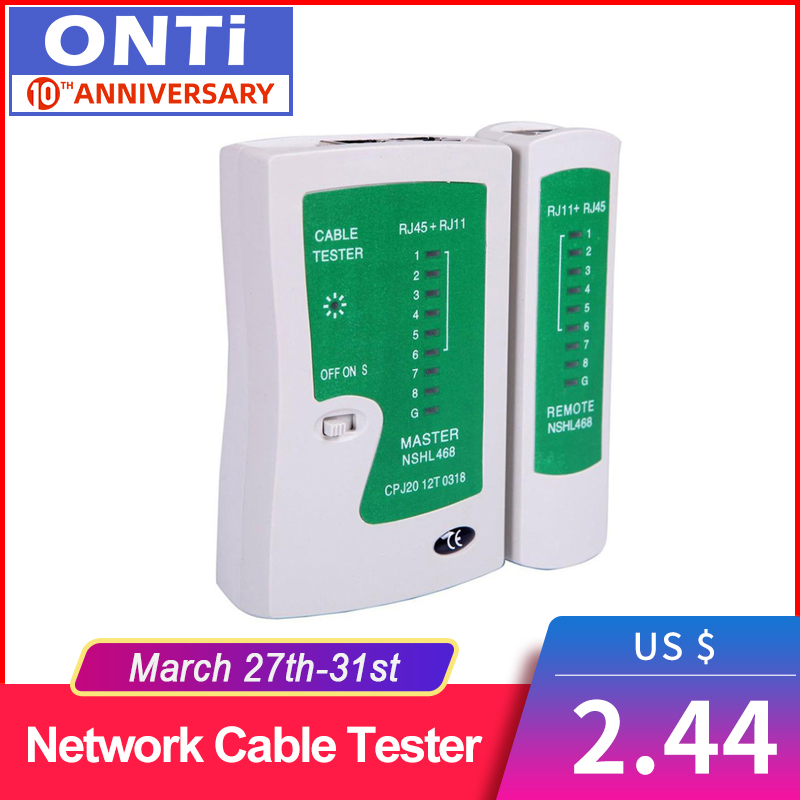 Professional Network Cable Tester RJ45 RJ11 RJ12 CAT5 UTP LAN Cable Tester Networking Tool Handheld Wire Telephone Line Detector
