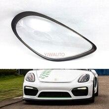 عدسة المصباح الأمامي لسيارة بورش كايمان 981 ، غطاء المصباح الأمامي للسيارة ، غلاف تلقائي
