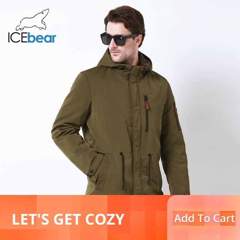ICEbear 2019 trench e Impermeabili Cappotto Per Gli Uomini Cappello Staccabile Uomini di Autunno Nuovo casual Medio Lungo Cappotti di Marca di 17MC017D-in Trench da Abbigliamento da uomo su  Gruppo 1