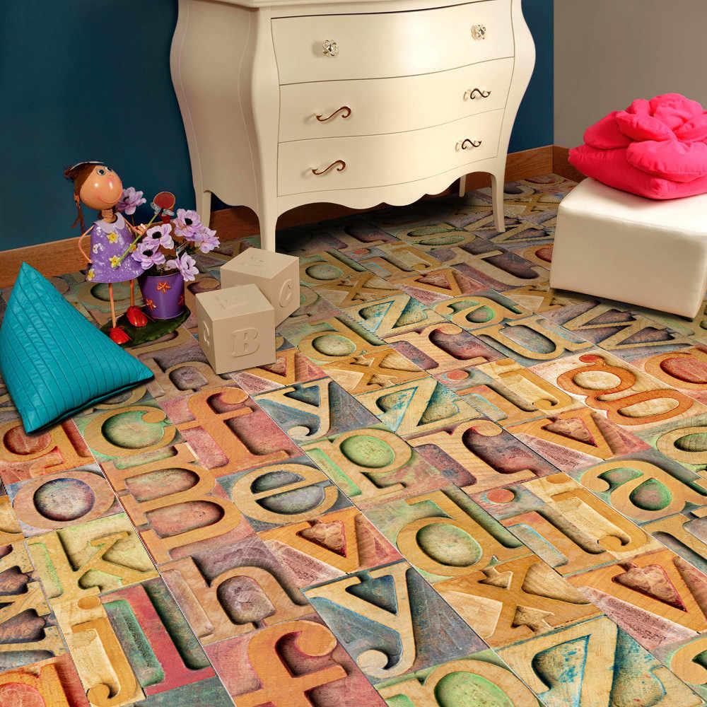 20x50cm płytki samoprzylepne Art podłoga kalkomania ścienna DIY kuchnia wystrój łazienki dekoracja sypialni vinilos decorativos para paredes 109