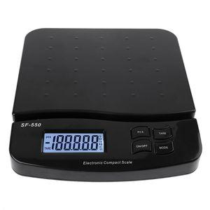 Цифровые Почтовые весы 25 кг/1 г 55 фунтов, электронные Почтовые весы с функцией подсчета, для взвешивания почтовых отправлений, с функцией под...