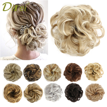 Curly Chignon Hairpiece-Extensions Hair-Rope DIFEI Rubber-Band Scrunchie Donut Elastic
