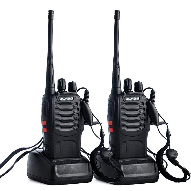 2 pçs/lote BF-888S BAOFENG Walkie talkie UHF Rádio em Dois sentidos Baofeng 888s 16CH Transceptor Portátil UHF 400-470MHz com Fone de Ouvido