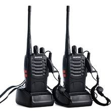 2 unids/lote Baofeng BF-888S Walkie talkie Radio UHF de dos vías Baofeng 888s UHF 400-470MHz 16CH transceptor portátil con auricular(China)