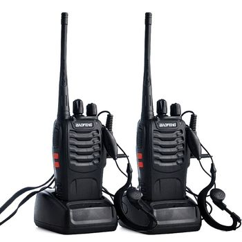 2pcs/lot BAOFENG BF-888S Walkie talkie UHF Two way Radio Baofeng 888s 400-470MHz 16CH Portable Transceiver with Earpiece - discount item  17% OFF Walkie Talkie