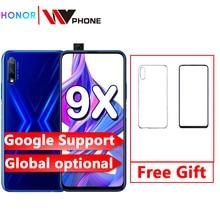 Honor 9x telefone inteligente kirin 810 6.59 polegada de elevação tela cheia 48mp câmeras duplas 4000mah gpu turbo telefone móvel