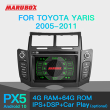 "Marubox KD6221 Car DVD Player for Toyota Yaris 2005-2011, 6"" IPS Screen with DSP, GPS"