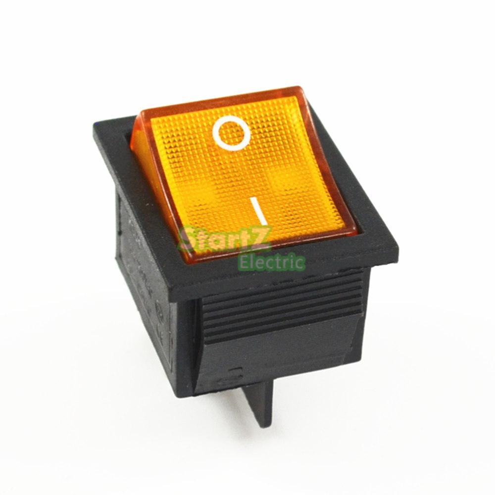 Фиксации кулисный переключатель Мощность переключатель I/O 4 контакта с светильник 16A 250VAC 20A 125VAC KCD4 - Цвет: Цвет: желтый