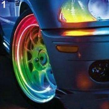Multicolor LED Wheel Car Lights Tire Valve Tyres Intelligent Cool Zinc Alloy Lamp Motocycle Bike Car Decorative Lamp Accessories