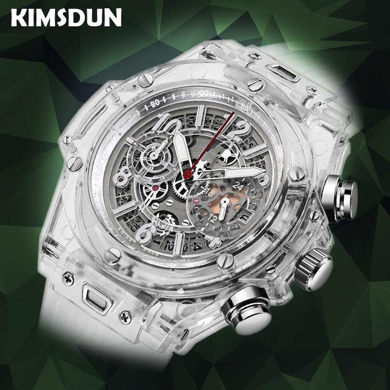 Full Transparent Watch Men Military Classic Silicone Sports  Quartz Chronograph Mens Watches Top Brand Luxury Relojes Hombre  2019Quartz Watches