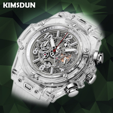 Full Transparent Watch Men Military Classic Silicone Sports Quartz Chronograph Mens Watches Top Brand Luxury Relojes Hombre 2019