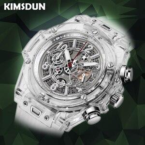 Image 1 - Voll Transparent Uhr Männer Military Klassische Silikon Sport Quarz Chronograph Herren Uhren Top Marke Luxus Uhren Hombre 2019