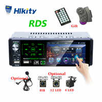 "Hikity Autoradio1 din Auto Radio 4,1 ""Zoll Touch Screen Auto Stereo Multimedia MP5 Player Bluetooth RDS Dual USB Unterstützung micphone"