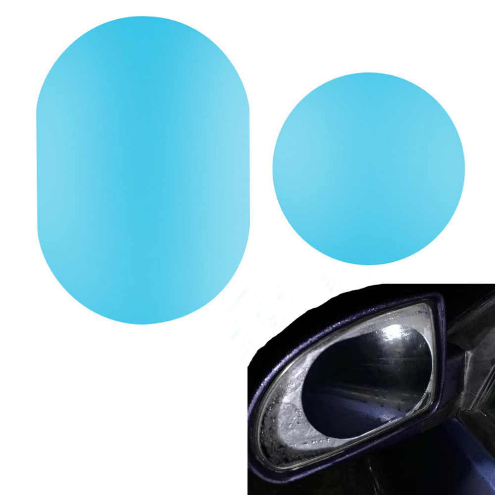 2 pièces voiture miroir fenêtre Film transparent Anti éblouissement voiture rétroviseur Film protecteur étanche à la pluie Anti brouillard voiture autocollant