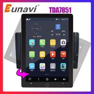 Eunavi 2 din Android 9 car multimedia radio player universal TDA7851 IPS Electric rotation screen GPS WIFI 2G RAM 32G ROM NO DVD(China)