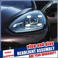 Brand New Head Lamps Car Styling For Cayenne Headlights 2011 2014 All LED head Light led Lens Projector LED DRL