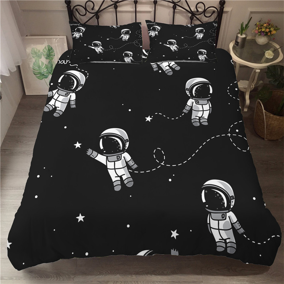 SOLAR SYSTEM DOUBLE DUVET COVER SET SPACE PLANETS NEW