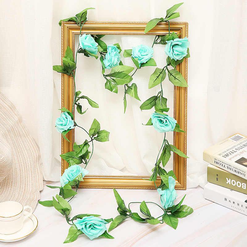 250CM viele silk rosen ivy reben und grüne blätter für familie hochzeit dekoration gefälschte blätter diy hängen kranz künstliche blumen