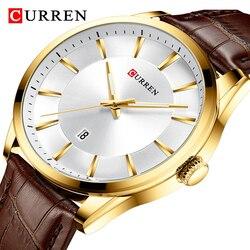 CURREN Top Brand Luxury Men Watch Fashion Business Leather Casual Waterproof Watches Male Clock Men's Analog Quartz Wrist Watch