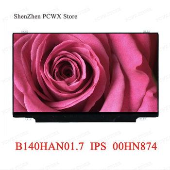 B140HAN01.7 FRU 00HN874 for AOU Brand 72% NTSC IPS Black EDP 30PIN Matrix FHD 1920*1080 Slim Panel for 14.0 LCD LED Matte Screen