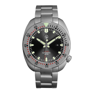 Image 2 - San Martin Bracelet métallique résistant à leau, sablage en acier inoxydable, sablage automatique, mécanique, saphir montre pour hommes lumineux