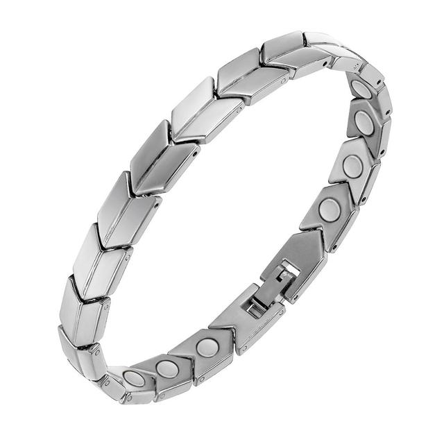 OKtrendy Fashion Jewelry Lady Woman Magnetic Bracelet Black Stainless Steel Health Magnetic Therapy Bracelets For Anti-fatigue