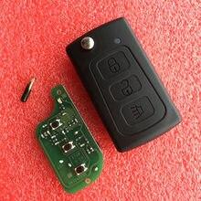 Llave remota plegable para coche, carcasa de mando a distancia de repuesto con tapa, 433Mhz, Chip ID48, para Great Wall Hover h3 h5 GWM Haval H3 H5 Steed
