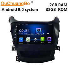 Ouchuangbo Auto Gps Radio Stereo Audio Player Voor Elentra 2015 Ondersteuning 4 Core Wifi Usb Android 9.0 Os(China)