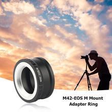 Para M42 EOS m adaptador de montagem anel lente da câmera adaptador anel para canon acessórios m42 lente para canon EF M mirroless câmera