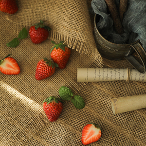 Image 4 - Burlap Cloth Cotton Linen Cloth Retro Effect Photography Backdrops Props for Food Cosmetics Shoot Background Material Items