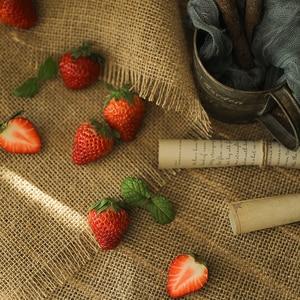 Image 4 - יוטה בד כותנה פשתן בד רטרו אפקט צילום תפאורות Props מזון קוסמטיקה לירות רקע חומר פריטים