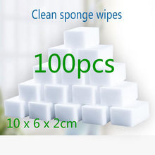100 pçs/lote Melamina Esponja Eraser Melamina Esponja de Limpeza Da Cozinha Esponja De Limpeza para Escritório Casa de Banho Ferramentas de Limpeza Doméstica