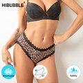 Новые четыре Слои Леопард герметичные гигиенические трусики физиологическое нижнее белье, Для женщин сексуальный Высокая Талия кружевное ...