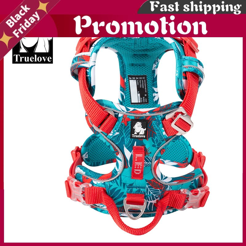 Pet Explosion-Proof Dog Harness Camouflage Reflective Nylon Special Edition And Upgrade Version Easy To Adjust Tlh5653