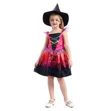 Новая детская одежда на Хэллоуин карнавал цвет для девочек cospaly