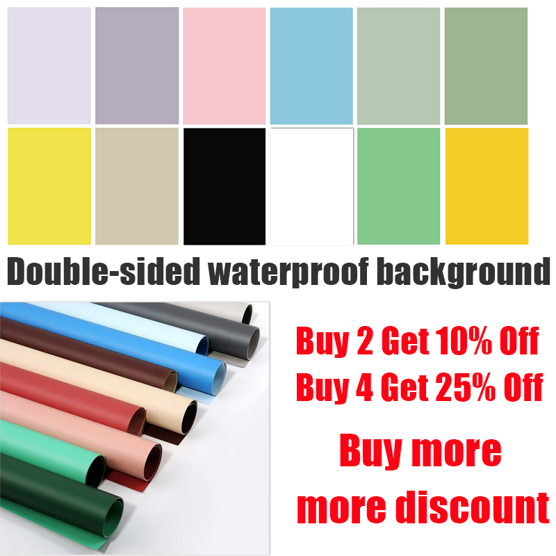 Photography background paper photophones backdrops morandi 57*87cm 2 sides solid color green screen photo studio[buy 4 free 1]]
